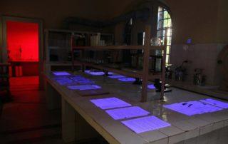 laboratori ku u provonin pajisjet e pergjimit