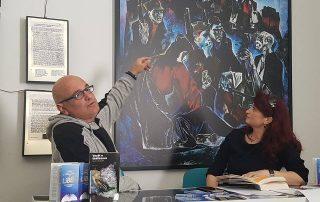 Rudi Erebara dhe Drejtoresha e Muzeut, znj. Etleva Demollari