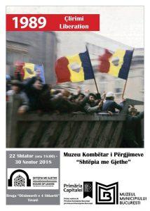 posteri i Ekspozitë fotografike Viti 1989 Çlirimi te muzeut te bashkis se bukureshtit